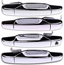 ECCPP Chrome Door Handles Exterior Outside Outer Front Rear Driver Passenger Side Replacement for 2007-2013 Chevy GMC Cadillac(Pack of 4)