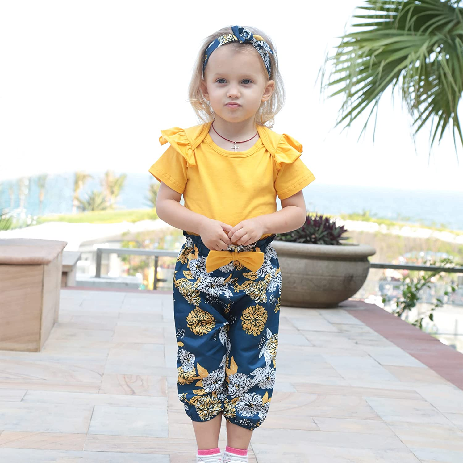 Buy Renotemy Newborn Infant Baby Girl Clothes Summer Outfits ...
