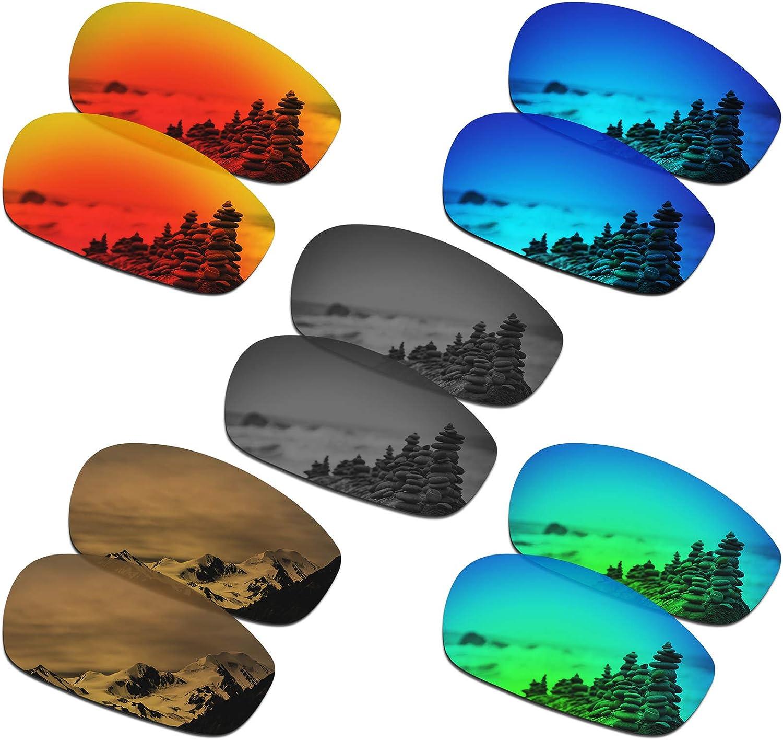 SmartVLT Set of 5 Men's Replacement for 25% OFF Split Jack Oakley Lenses Inexpensive