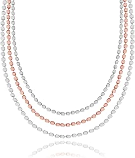 Pretty Pebbles - Silver and Rose Gold Layered Chains - Necklace