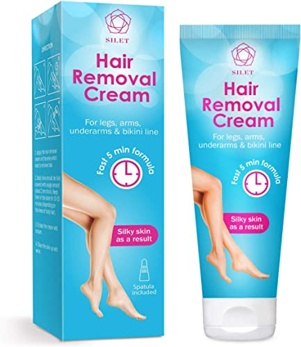 Hair Removal Cream Gel Painless Depilatory Sensitive Skin Formula Reduces Ingrown Hair and Moisturizes Skin Removes A...