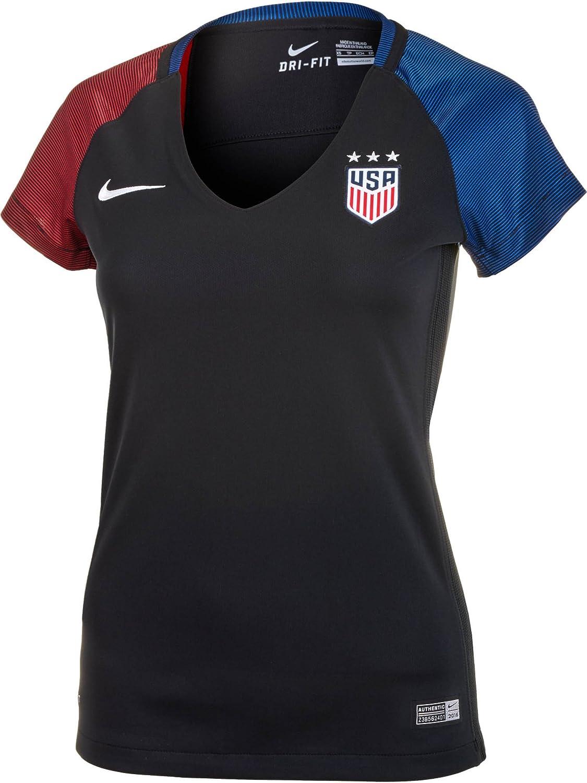 Nike Women's United States Away Stadium Soccer Jersey (Black)