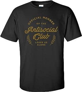 Antisocial Social Club - Shy, Loner, Funny Graphic T-Shirt