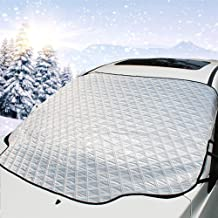 Mumu Sugar Car Windshield Snow Cover,Car Sunshades for Windshield with Magnetic Edges Snow, Ice Defense No Scratches,Cotton Thicker Windshield Winter Cover Fit for Cars, Trucks, and SUVs