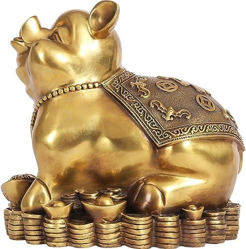 edición limitada Lucky pig restaurante tienda de ropa Decoración de de de cerdo sala de estar dormitorio mesa de noche decoración Regalo de cerdo Feng Shui adornos artesanías cerdo lindo ( Color   oro , Talla   18.522CM )  nueva marca