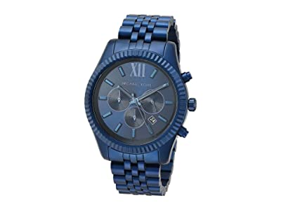 Michael Kors Lexington Chronograph Aluminum Watch (Navy) Watches