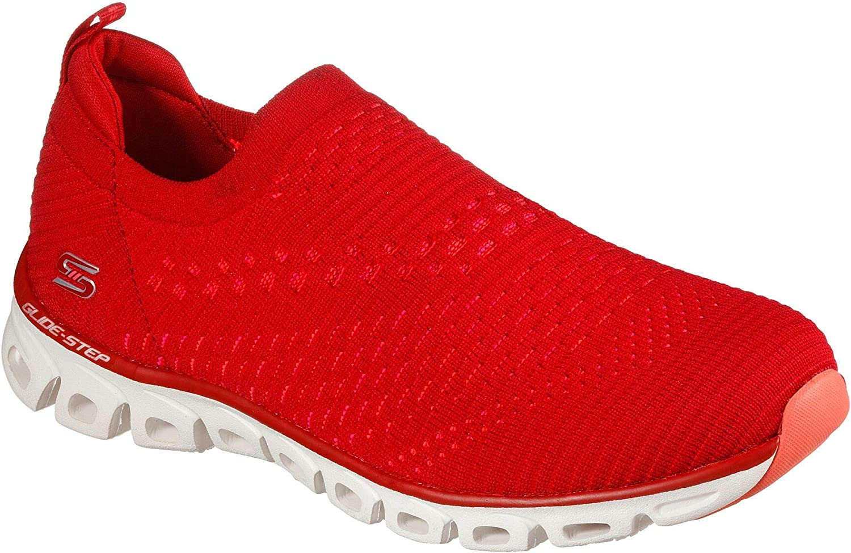 新品■送料無料■ Skechers Women's 出荷 Glide Step - Sneaker Soft So Oh Red