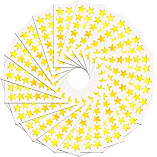 WXJ13 1.5 cm Gold Star Stickers Labels, 3500 Count,100 Sheet, Self-Adhesive