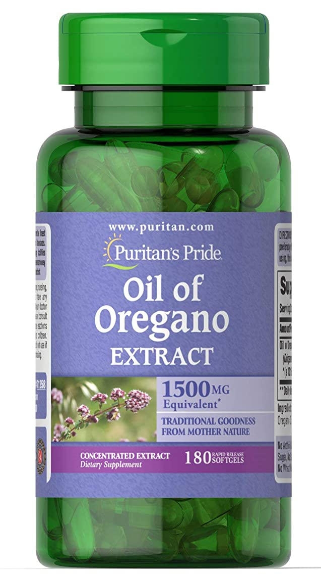 Puritans Pride Oil of Oregano Extract 1500 Mg, 90 Count