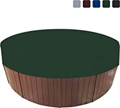 COVERS & ALL Round Hot Tub Spa Cover 18 Oz Waterproof - 100% UV & Weather Resistant Round Spa Cover with Elastic and Air Pocket for Snug Fit (76