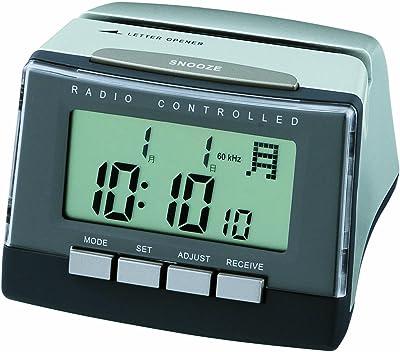 ADESSO(アデッソ) 電波デジタル目覚まし時計 レターオープナー ブラック C-880