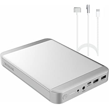 MAXOAK Type-C Power Bank Compatible with Laptop MacBook Pro/MacBook Air MacBook 36000mAh 5/9/12/15/20V PD USB-C External Battery Pack Portable Charger W/2USB for Notebook Phone(Recharge by AC/USB-C)