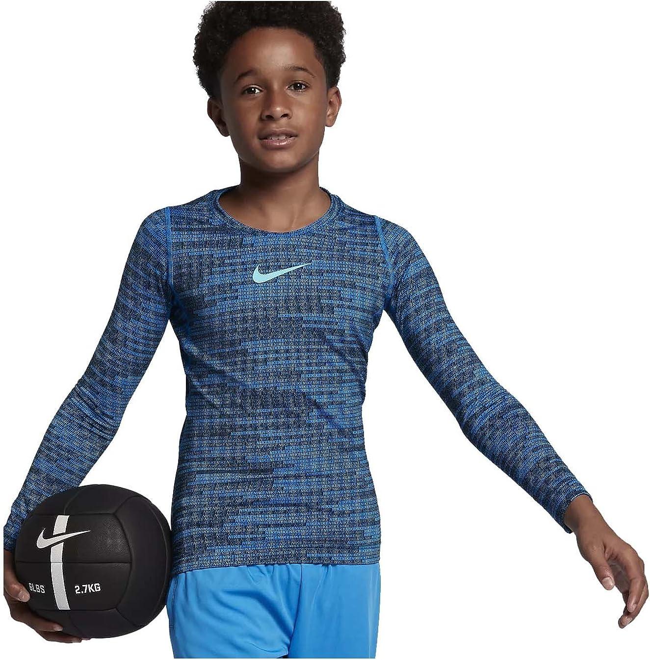 Nike Big Kids' (Boys') Pro Warm Long Sleeve Training Top
