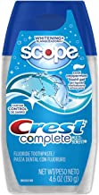Crest Complete Whitening Plus Scope Liquid Gel Toothpaste, Cool Peppermint, 4.6 Ounces (Pack of 3)