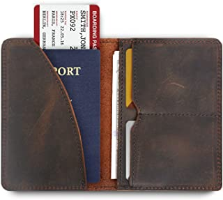 7a37d17d0ce3 Passport Cover Passport Holder for Men Sleeve Wallet Leather Travel ID Card  Case