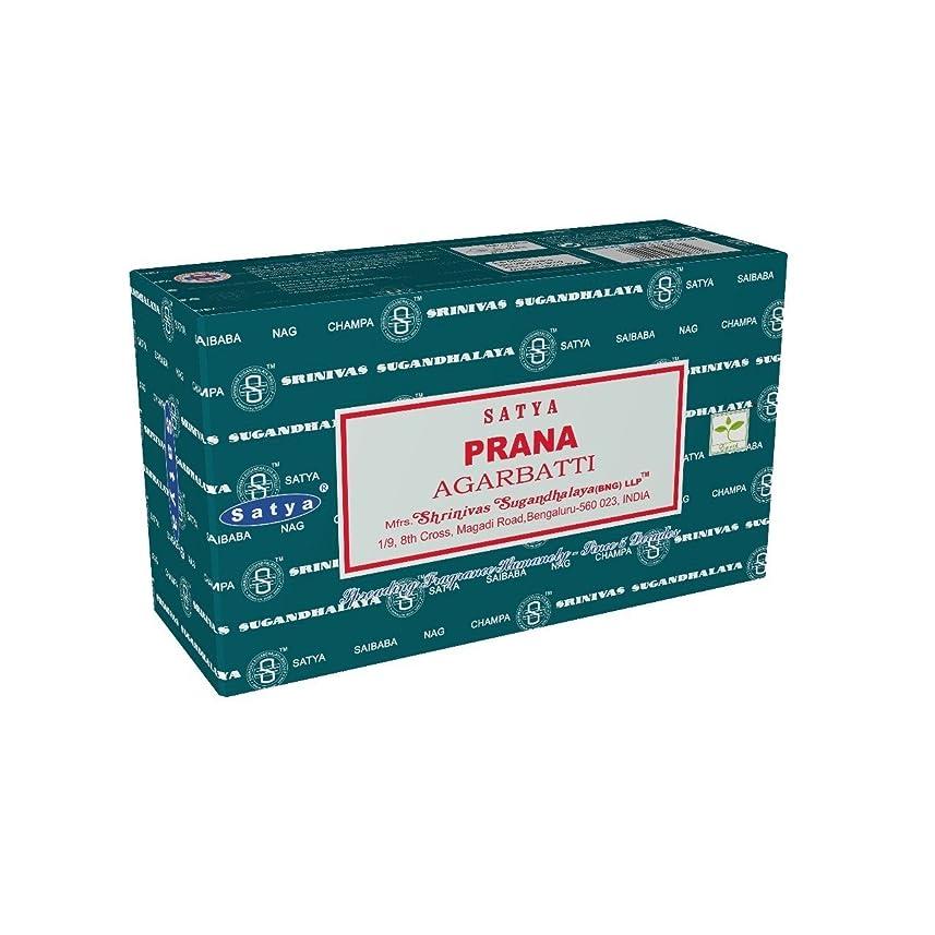 避けるボードつぶすSatyaバンガロール(BNG) Prana Incense Sticks 12ボックスX合計15?g180グラム