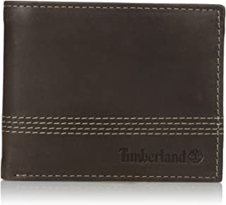 Timberland Men's Leather Slimfold Wallet with Matching Fob Gift Set