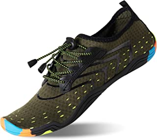 KRIMUS Mens and Womens Water Shoes Quick Dry Aqua Sock Sport Beach Shoes for Swimming Surfing Yoga Running