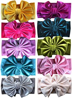 Toptim Baby Girl's Headbands and Bows for Newborn Infant Toddler Photographic Accessories (10 Pack-TP10)