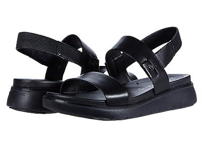 Cole Haan Zerogrand Global Double Band Sandal (Black Leather/Black) Women