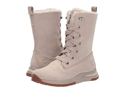 Timberland Mabel Town Mid Lace Waterproof Boot (Light Taupe Suede) Women