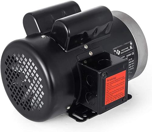 "Mophorn 1.5HP Electric Motor, 3450rpm Reversible Single Phase 56C Frame Air Compressor Motor 5/8"" Shaft Diameter Electric Compressor Motor for Agricultural Machinery General Equipment, 115/230VAC"