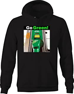 Gas Station Go Green! Funny Truck Turbo Spool Gasoline Graphic Hoodie for Men