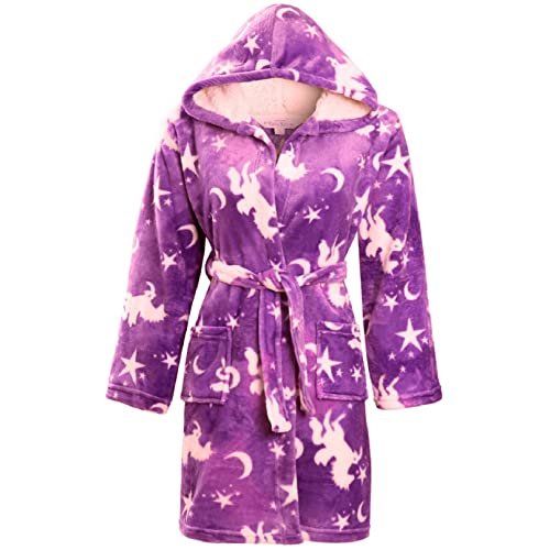 f0ca117436 KACEY PARIS Girls Soft   Cosy Hooded Dressing Gown