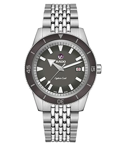 RADO Captain Cook 42mm Automatic Watch Set (Gray) Watches