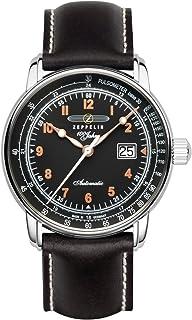 Zeppelin - 7654-5 - Reloj para Hombres, Correa de Cuero Color Negro
