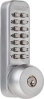 All-Weather Mechanical Keyless Deadbolt Door Lock - Satin Chrome, 0409 by Anaconda