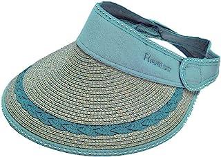 Sombrero de verano de paja Sombrilla solar Sombrero de copa vacío UV Sombrero de sol Sombrero de playa