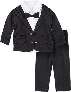 BIG ELEPHANT Baby Boys Tuxedo Suit Formal Party Set Wedding Outfit E16