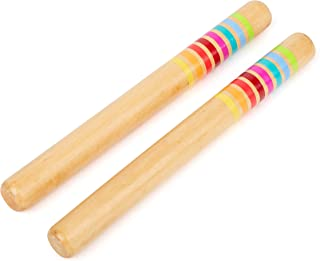 Small Foot 11496 Barres de Son en Bois, Instrument de Musique pour Enfants, Groupe de Produits Sound Jouets, Multicolore
