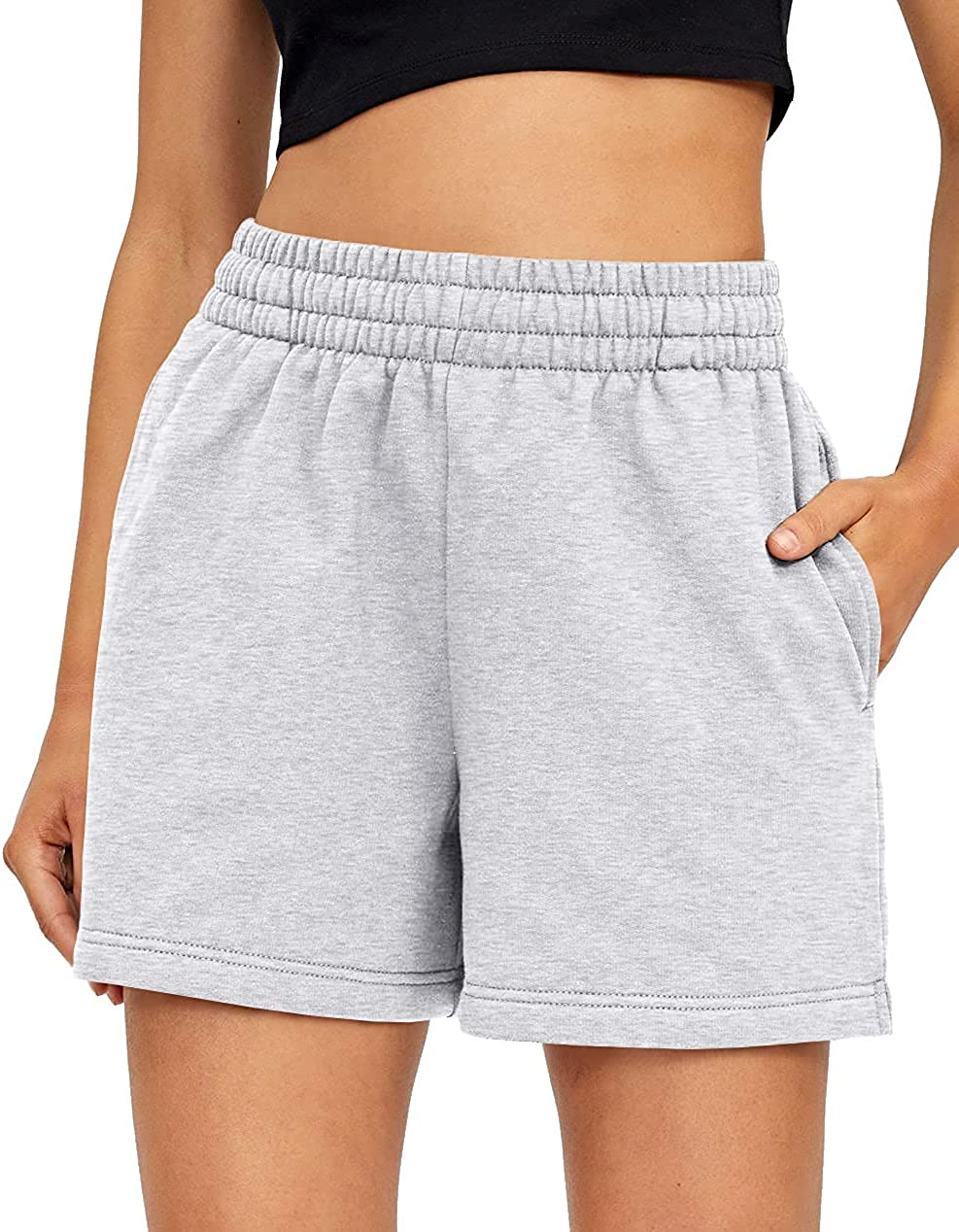 67% OFF of fixed price AUTOMET High material Womens Shorts Casual Summer Short Sweat Drawstring Comfy