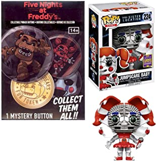 Pinback Button Party Five Nights at Freddy's Pop! Exclusive Figure Jumpscare Baby SDCC Sister Location Bundled with + 1 Mystery Button 5 Nights Collectible