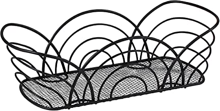 Spectrum Diversified Twist Flower Bread Basket, Black