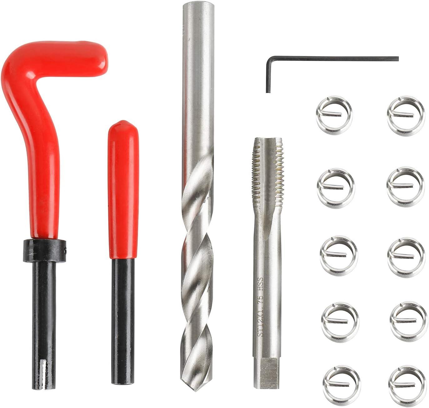 8MILELAKE 30pcs Thread Repair Kit M9 X 1.25 Thread Repair Insert Set Compatible for Auto Repairing