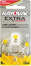 60 Rayovac Extra Mercury Free Hearing Aid Batteries Size: 10 + Battery Holder Keychain Kit