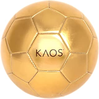 KAOS Soccer Ball Size 5– Outdoor Sports Training Recreational Soccer Ball for Girls and Boys, Mesh Bag Included