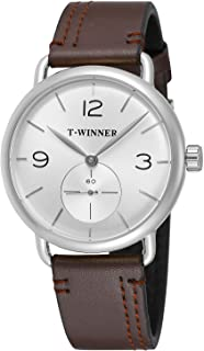 FORSINING Men's High End Leather Strap Mechanical Hand-Wind Trendy Charming Watch