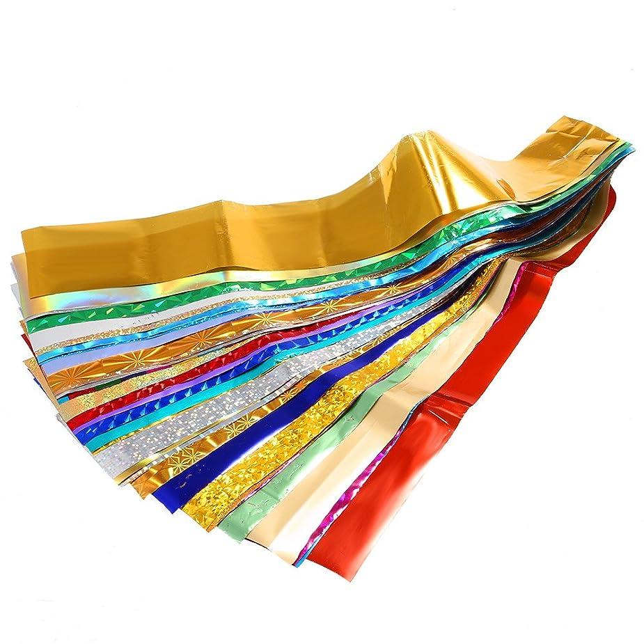 余暇アパート規定Decdeal 50色 ネイルアート転送箔ステッカー マニキュアアクセサリー 爪のヒントの装飾 DIY 美しい星のデザイン