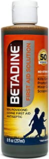 Betadine First Aid Solution 8 Ounces Povidone Iodine Antiseptic with No-Sting Promise
