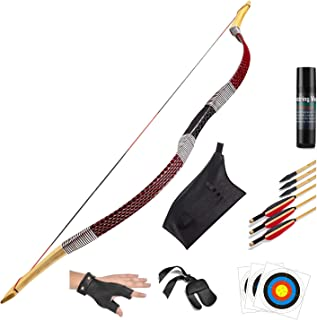 KAINOKAI Handsebow Longbow دست ساز سنتی ، شکار بازگشت کمان کمان ، مجموعه کمان مجدد
