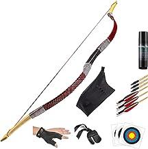 KAINOKAI Traditional Handmade Longbow Horsebow,Hunting Recurve Archery Bow,Recurve Bow Set