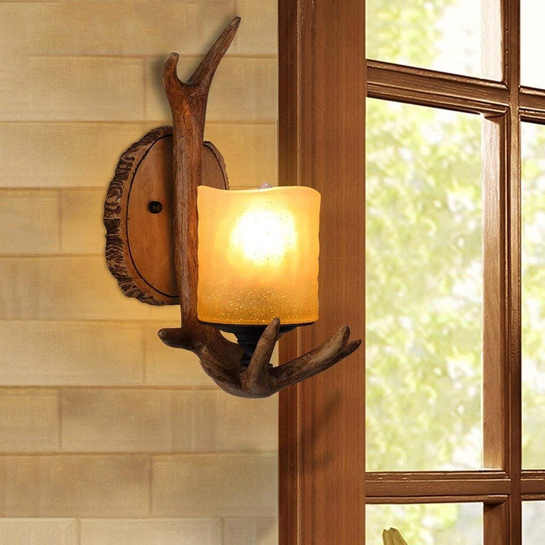 JU Dachboden-Retro industrielle Wind-Wand-Lampen-Marmor-Lampen-kreative Tiergeweih-Kreuze die die die Wandleuchten B07G75XZRD | Charakteristisch  391cb4