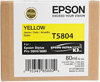 Epson T5804 UltraChrome K3 Yellow Cartridge Ink