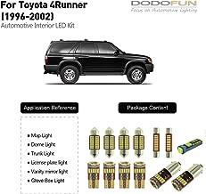 DODOFUN Interior LED Light Kit for 1996-2002 Toyota 4Runner (13-pc Bulb 6000k)