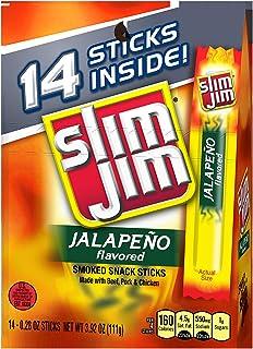 Slim Jim Snack-Sized Smoked Meat Stick, Jalapeño Flavor, Keto Friendly, 0.28 Oz. 14-Count