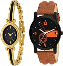 RPS FASHION WITH DEVICE OF R Analogue Black Dial Men's Watch, Pack of 2